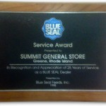 Summit General Store Blue Seal Service Award 1998