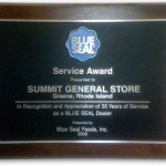 Summit General Store Blue Seal Service Award 2008